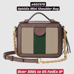 Ophidia mini Shoulder Bag 602576 Trunk Shape Vintage Lady Crossbody Boxy Women Purse