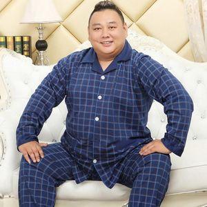 Cotone Autunno / Inverno Sleepwear Sleep Cardigan Manica lunga Pigiama da uomo 5xl Plus Size Grasso Homewear Style Style Comfortable Cozy Lounge Sleepwear Sleepwear