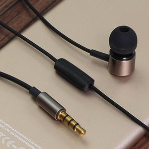 Headphones & Earphones Rehimm Wired Earphone Metal Sport Music Phone Earbuds In Ear Wire-Control 3.5 MM Drive-by-Wire Headset With MIC