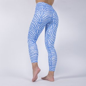 2019 New Four Needle Six Line Digital Printing Striped Leggings Yoga Pants High Stretch Fitness