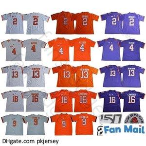 NCAA Clemson Tigers College 2 Kelly Bryant 4 Deshaun Watson 9 Travis Etienne Jr. 13 Hunter Renfrow 16 Trevor Lawrence 150th Jerseys
