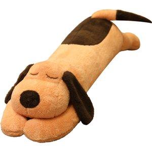 70 cm de style couché chien poupée poupée mignon peluche jouet usine pincée jambe pour accompagner long oreiller oreiller lit grande poupées en gros