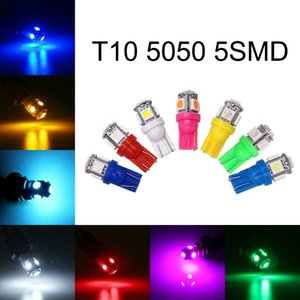 100Pcs High Quality T10 Wedge 5SMD 5050 LED Bulbs W5W 2825 158 192 168 194 Car Interior Reading Dome Trunk License Plate Lights 12V 24V
