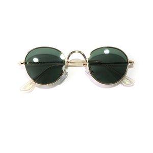 Vintage rodada polarizada hippie óculos de sol pequeno círculo óculos de sol