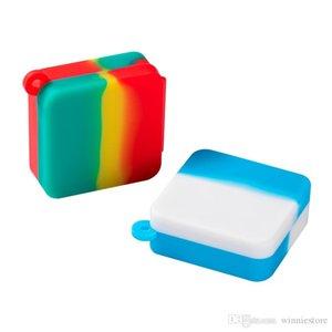 Wax хранилище JAR 9ML сумка E-сигарета аксессуары квадратный силиконовый контейнер безстрадавшего DAB эфирное масло бутылка соединяемая коробка с висящим отверстием