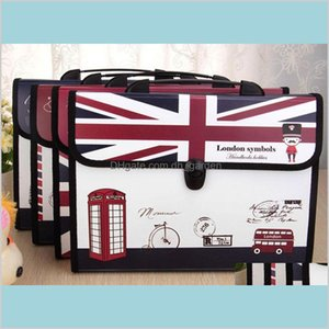 Filing Products Supplies Office School Business Industrial Classic Expanding File Accordion Hand Bag Multifunctional Multilayer Docume