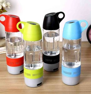 2-in-1 Bluetooth Speaker Water Bottle Black Running Sports Wireless Fitness cup 5 colors