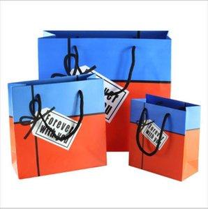 Fashion English Alphabet Gift Bag Birthday Party Merchandise Wrap Paper Handbag