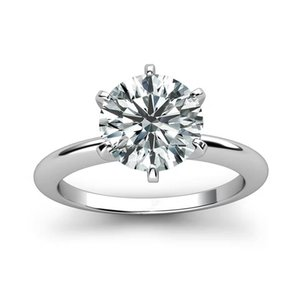 solitaire 925 sterling silver 1ct 2ct 3ct Classic style Diamond jewelry Moissanite ring Wedding Party Anniversary For Women Y1119