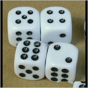 Gambing Leisure Games Sports & Outdoors Drop Delivery 2021 16Mm Black Point Dice 6 Sided Ordinary Dices Children Educational Toy Casino Craps
