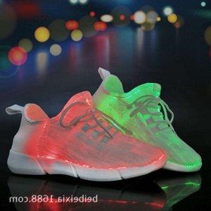 Rahat Ayakkabılar FUSQ 2021 Optik Fiber Aydınlık Erkek Ve Kadın Eğlence USB Şarj Renkli Flaş LED Işık Ayakkabı Çift QL39