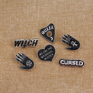 Witch pins collection Pentagram Triple moon Constellation Wizard Brooches Witchy Goth Jewelry Lapel pin for Witches1 746 Q2