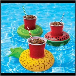 Other Spashg Pools Spas Patio Lawn Home Garden Drop Delivery 2021 Inflatable Drink Holder Colorful Cup Donut Flamingo Watermelon Lemon Shaped