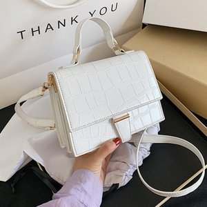 New Stone Pattern Totes Mini PU Leather Crossbody Bags For Women 2021 Simple Travel Summer Fashion Shoulder Handbags and Purses