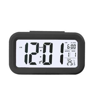 Smart Sensor Nightlight Digital Alarm Clock with Temperature Thermometer Calendar,Silent Desk Table Clock Bedside Wake Up Snooze 406 V2