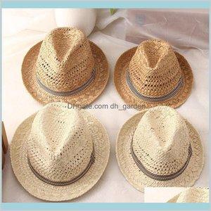 Fashion Handwork Women Summer Raffia Straw Sun Boho Beach Fedora Sunhat Trilby Men Panama Gangster Cap Ug7I3 Wide Brim Hats Kmiae