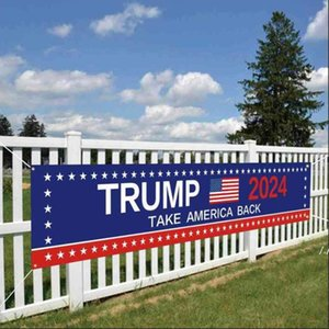 Trump 2024 US Presidential Campaign Election Banner Accessories Keep America Great Letters Printed Garden House Flag AHB6331
