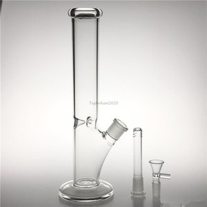 12 Inches Tall Thick Glass Water Bongs Straight Water Pipe Bongs Super Heavy Big Bongs Straight Tube Bong FY2417