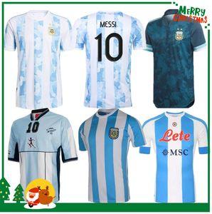 1978 1986 2021 Argentina Messi Maradona 홈 축구 유니폼 레트로 93 94 1981 87 88 나폴리 나폴리 축구 셔츠