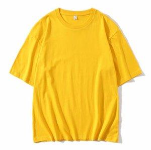 EY69012021 Katı Siyah T Shirt Beyaz Erkek Kadın Moda Erkekler S Casual Tişörtleri Adam Giyim Sokak Şort Kollu 21ss Giysileri