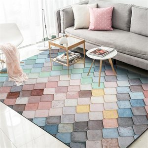 Stylish Modern Carpet Sweet Macalon Color Mat Living Room Kitchen Coffee Table Bedroom Bedside Home Decoration11