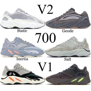 2021 Static Reflective 700 Shoes for mens Breathable Inertia Tephra Solid Grey Utility Black Men Women Sport Trainers Sneakers Eur 36-46