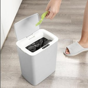 Waste Bins Intelligent Induction Trash Can Kitchen Living Room Automatic Infrared Bin Household Office Cleaning Classic Supplies