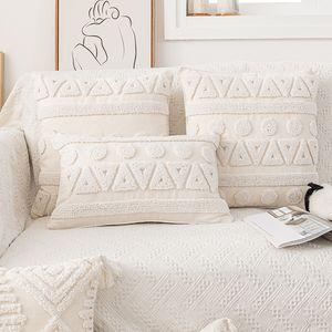 Simple Modern Nordic Style Tufted Cushion Cover Geometric Three-dimensional Pillow Model Room Mingsu Sofa Back
