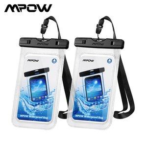 "MPOW 2PC 097 Universal Waterproof Case Universal IPX8 Saco de Telefone Impermeável Compatível para iPhone 12/12 Pro Max Galaxy Até 7 ""Telefone"