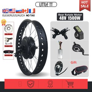 26 inch electric bicycle Kit Fat 1500W 48V Hub brushless motor Rear drive mountain cross-country beach snow vehicle Wheel motorcycle TFT LCD power