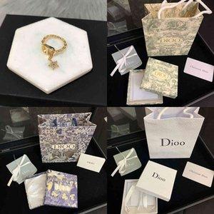 new Dijia   CD DJIA letter Diamond Star Ring