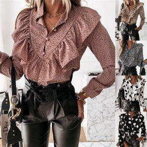 Womens Lantern Sleeve V 넥 셔츠 여성 패션 솔리드 컬러 나비 섹시한 블라우스 여성 패치 워크 OL 셔츠