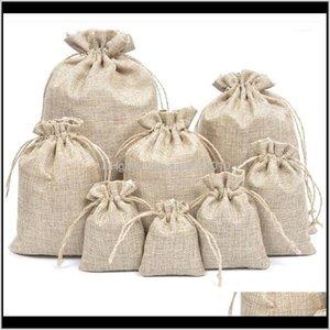 5 قطع الكتان jute أكياس dstring أكياس 5 حجم حقيبة الأورجانزا النبيذ زجاجة غطاء التفاف هدية الحقيبة المنزل مخازن المنزل 1 gc3az dws9v