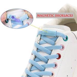 Magnetische Schnürsenkel flach elastischer kreativer Kreativ schnell keine Krawatte Schnürsenkel Farbe Metallverriegelung Unisex Geeignet für alle Schuhe Faule Schnürsenkel