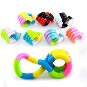DIY 18pcs bag Stress Relief Variety Hand Sensory Decompression Twisted Winding Toy for Kids Autism Dexterity Training Tanggled Fidget Toys