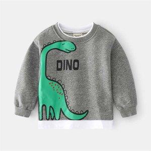 Children Kids Sweatshirt 2021 New Autumn Spring Cartoon Dinosaur Sweatshirts for Boys Pullover Tops G0917