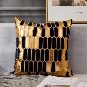Avigers Stickerei Samt Kissenbezug Luxus Europäische Kissenbezug Kissenbezug Geometrie Home Dekorative Sofa Stuhl Wurfkissen 1140 V2