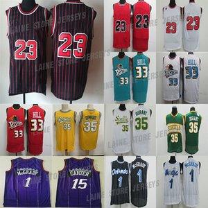 Jason 55 Williams Reggie 31 Miller 23 Michael Vince JD Carter Basketbol Forması 1 McGrady 32 Grant 33 Hill Thomas Rodman Retro Formalar