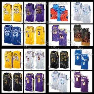 24 8 33 Bryant Jerseys Los Lebron 6 James Angeles 23 Tune Squad Anthony 3 Davis Kyle 0 Kuzma Film Space Jam Lower Mersion College LBJ MVP 2021 Männer Basketball Schwarz Mamba