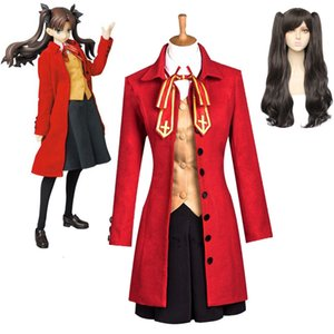 Anime Fate Stay Night Tohsaka Rin Cosplay Disfraces Escuela Uniforme de Vestido Outfit WIG