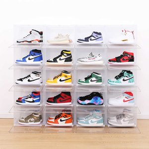 Home Storage Boxes Bins Haixing sliding superimposed with Alec cabinet transparent frosted display fashion brand shoe
