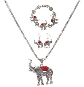 European and American exaggerated jewelry Posimiasson elephant set necklace bracelet earrings Three-piece set ps1608