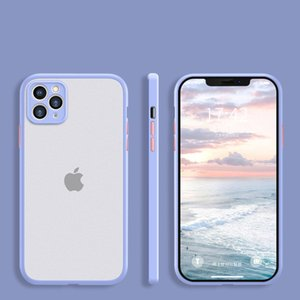 Silicone Lens protection Shockproof Transparent matte Phone Case for iPhone 12 11 Pro Max XR XS 8 Plus