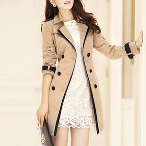 Trench Coat For Women 2019 Autumn Casual Double Breasted Female Long Trench Coats Plus Size Casaco Feminino Ladies Windbreaker r93t#