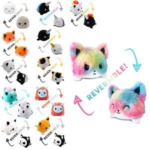 New Cute Stuffed Animal Flip Reversible Cat Plush Felpa Peluches De Unicornios peluche gato Reversibles Unicorn Toy