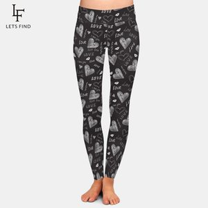 High Waist Women Plus Size Fitness Leggings Fashion 3D Valentine's Pattern Printing Elastic Warm Slim Women's Pants