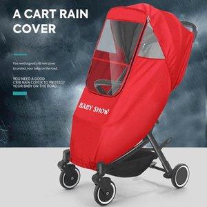 Stroller Parts & Accessories Universal Raincover Baby Carriage Rain-Cover Waterproof Cart Raincoat Pram Zipper Open Wind Dust Shield