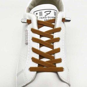 Hiçbir kravat ayakkabı elastik ayakkabı bağı basın metal kilidi hızlı ayakkabı bağı çocuk ve yetişkin eğlence spor ayakkabı tembel bağcıklar 1 çift