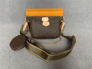 2021 Luxurys Designers Shoulder Handbag Bags Crossbody Women Fashion Leather Multi Pochette Wallets #22