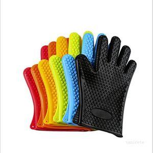 Kitchen Tools Silicone GlovesOrganizer Insulated Heat Gloves Microwave Oven Gloves Plate Clip Anti-scald Thicken Mitt Kitchen Tools